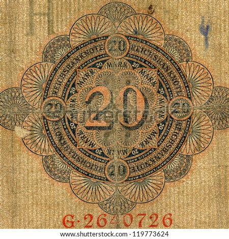 Part of  expired german banknote of hundred mark