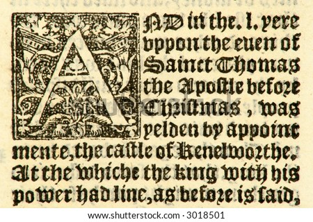 Part of Fabian's Chronicle, dated 1533, during the reign of Henry VIII.