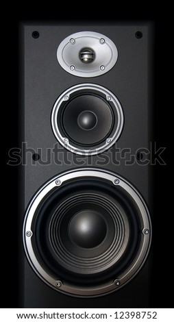 Part of Hi-End Acoustic System on black background