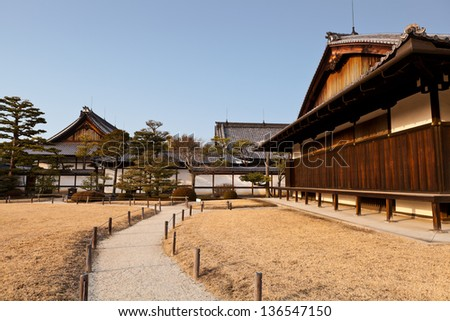 Part of Honmaru palace, Nijo castle, the world heritage in Kyoto, Japan