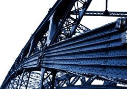 part of metal bridge
