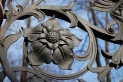 part of Mikhailovsky (Michael) garden fence (1907) in Saint-Petersburg