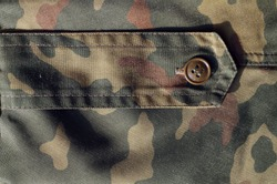 Part of military camo uniform. Abstract background and texture for design.