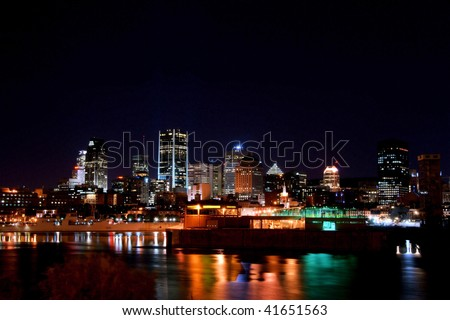 Part of Montreal at Night