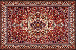 Part of Old Red Persian Carpet Texture, abstract ornament