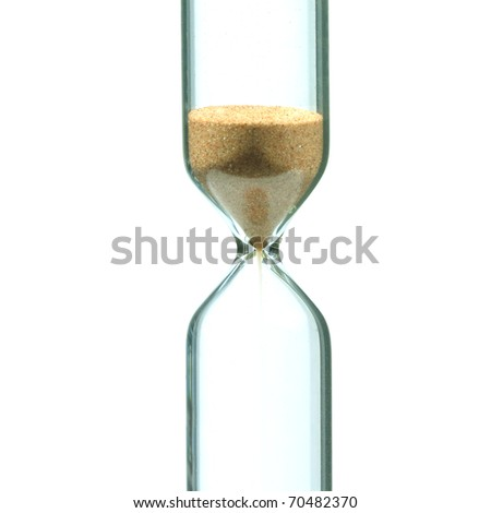 Part of sandglass isolated on white