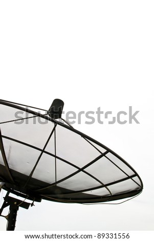 Part of Satellite Dish on isolated on white sky