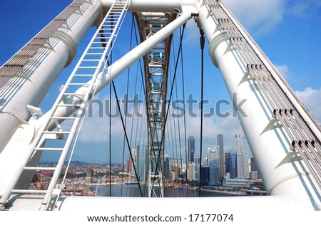 Part of Singapore flyer, largest wheel in the world