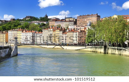 part of the city of Lyon, France