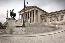 part of the complex of the Parliament in Vienna. Austria