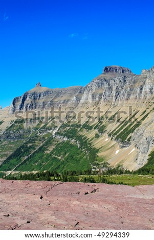 Part of the continental divide in Glacier National Park, Montana