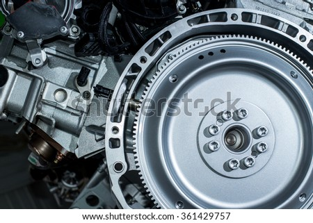 Part of the engine of the car close-up stock photo