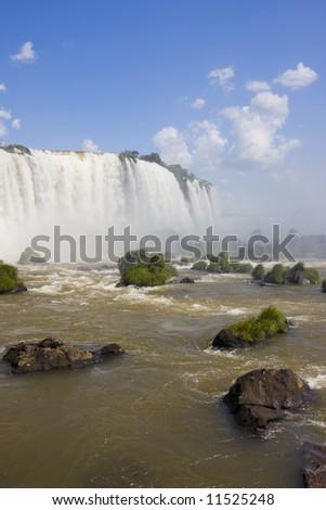 Part of the Iguassu falls on the brazilian side