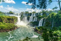 Part of The Iguazu Falls seen from the Argentinian National Park