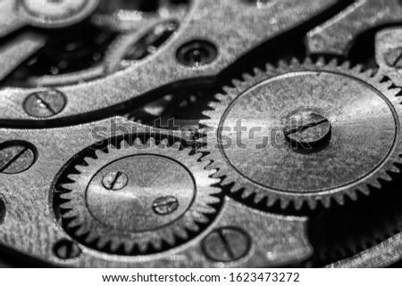 Part of the mechanism, gears