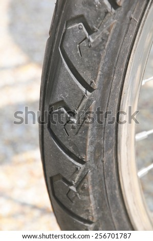 part of the wheel from the bicycle #256701787
