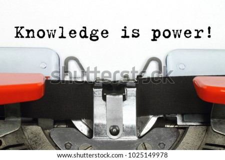 Part of typing machine with typed Knowledge is Power words #1025149978