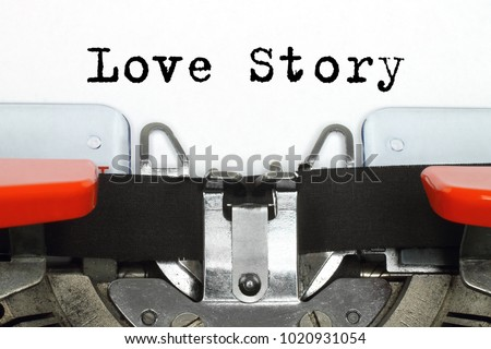 Part of typing machine with typed Love Story words #1020931054