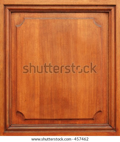 part of wood door - stock photo