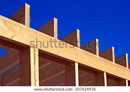 Part of wood house skeleton