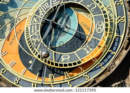 part of zodiacal clock in Prague city