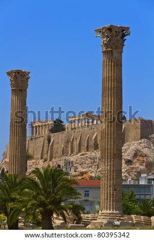 parthenon acropolis Athens Greece - stock photo