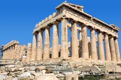 Parthenon on the Acropolis of Athens. Greece. Religious building of ancient times.