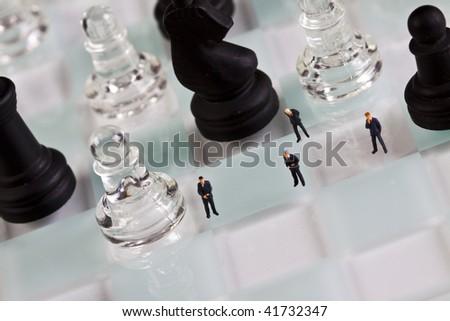 Partia w szachy Zdjęcia stock ©