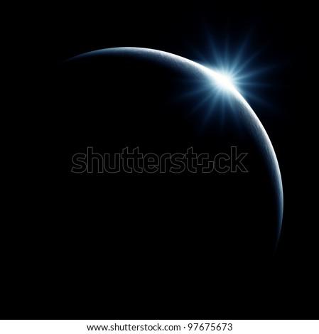 Partial Solar Eclipse on Black