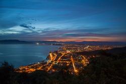 partial view of the city of Laguna, Santa Catarina, Brazil