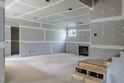 Partially completed interior remodel of home.