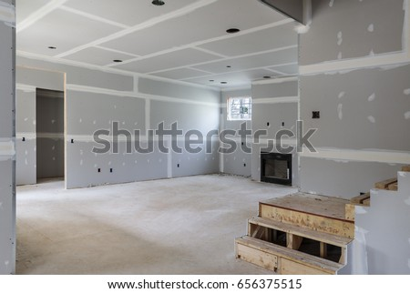 Partially completed interior remodel of home. Foto d'archivio ©