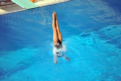 Participant(s) of the spring-board diving championship.