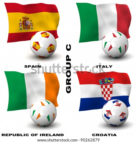Participating teams of Group C of Europe's biggest soccer competition. Easy to edit and use.