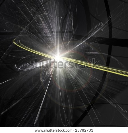 Particle Collision in the Large Hadron Collider in Switzerland