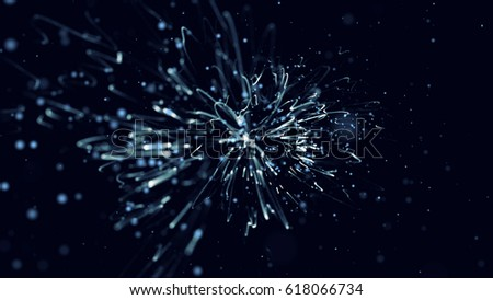 Particles Background. Dust Particles. Abstract Background of Particles