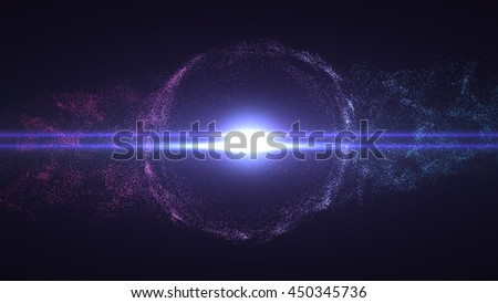 Particles explosion abstract background. Colorful particles  explode in black space. Big Bang explosion. Footage available.