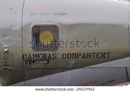 Particular of a FIAT G91 military airplane