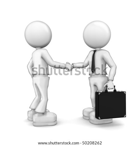 Partnership.  3d image isolated on white background.