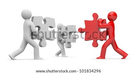 Partnership or leadership - stock photo