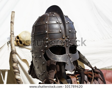 Parts of a medieval knight armor