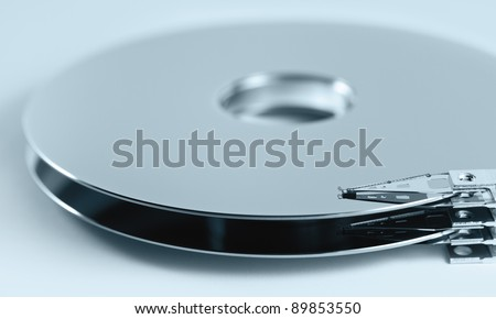 parts of hard disk drive. Symbol of data storage