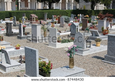 Parts of the cemetery in Italy