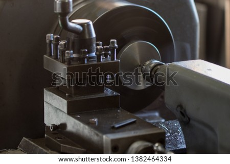 Parts processing work with a lathe  #1382464334
