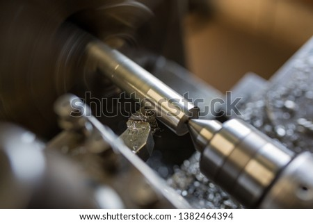 Parts processing work with a lathe  #1382464394
