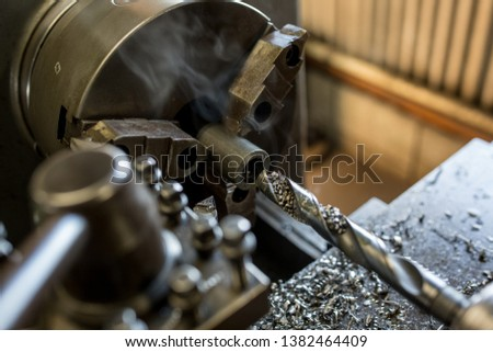 Parts processing work with a lathe  #1382464409