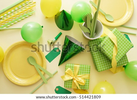 party background with party accessories #514421809