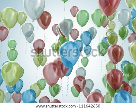 Party balloons celebration concept