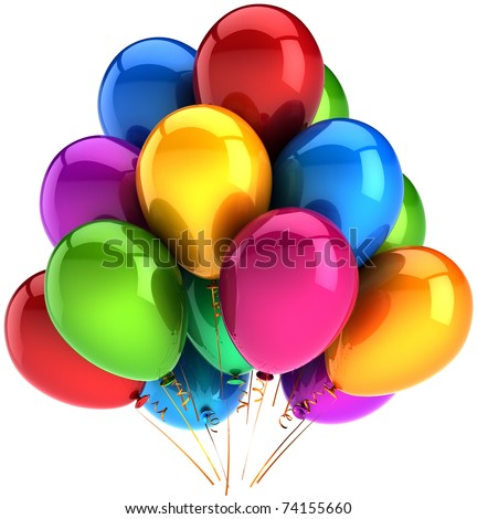 Graduation Decorations on Balloon Group Decoration Multicolor Shiny  Anniversary Graduation