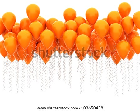 party balloons isolated on white background